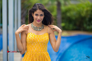 Actress Lavanya Tripathi Latest Picture Shoot Gallery in Yellow Long Dress 0005