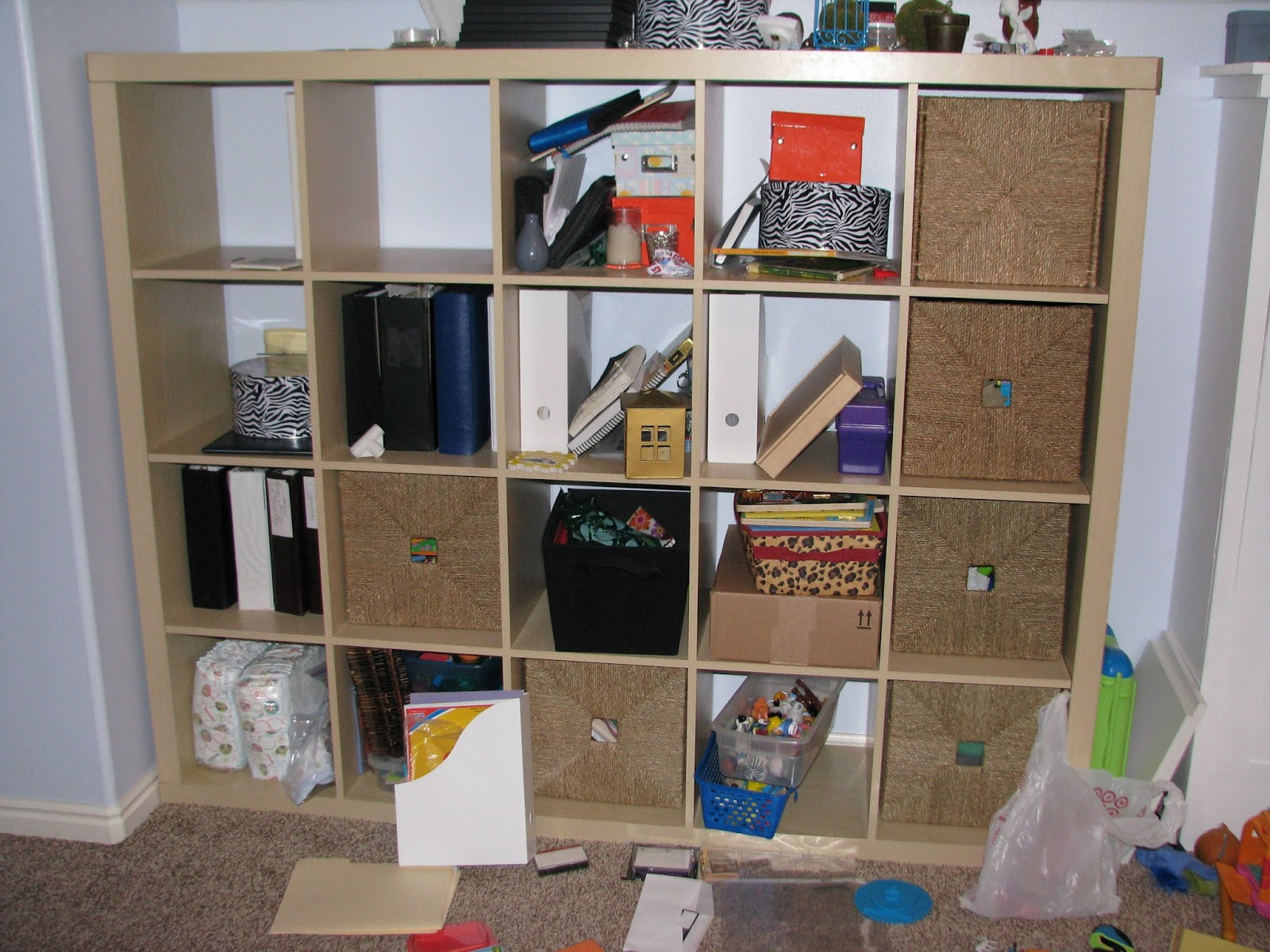 Genius Idea Ikea Expedit Shelves With Baskets For Storage: My So-Called DIY Blog: DIY Doors For IKEA Expedit Cubby Shelf
