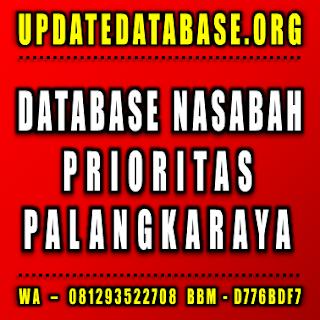 Jual Database Nasabah Palangkaraya
