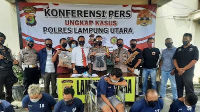 Jelang Lebaran Polres Lampung Utara Ringkus Pelaku 3C Lintas Provinsi, 3 Diantaranya Diberi Timah Panas