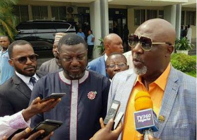 Dino Melaye Storms INEC Office