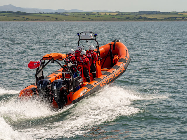 Photo of Maryport Inshore Rescue boat performing for my camera