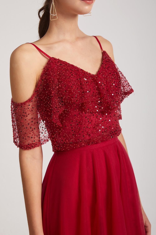 abito lungo rosso