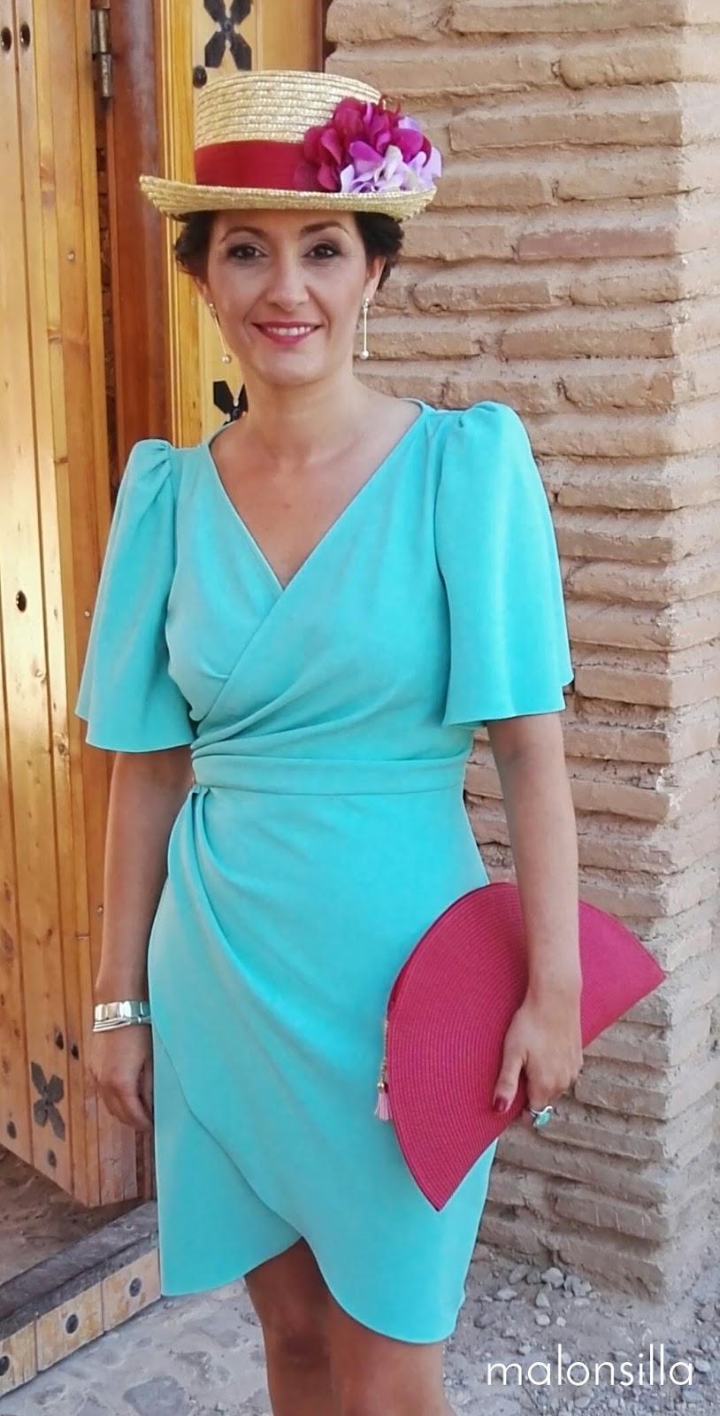 Vestido aguamarina invitada boda