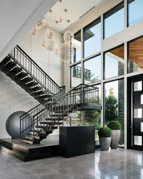 Desain Tangga Besi Modern