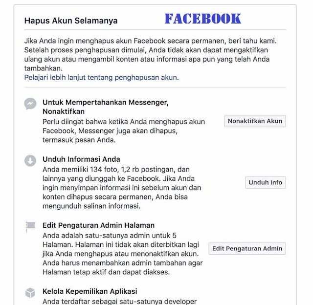 4 Cara Mudah Menghapus Akun Facebook Terbaru 2018