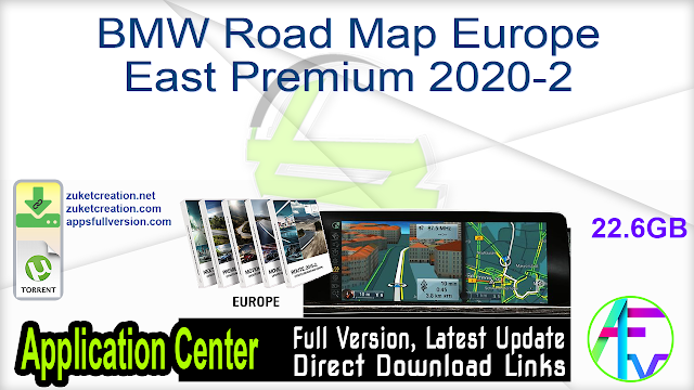 BMW Road Map Europe East Premium 2020-2