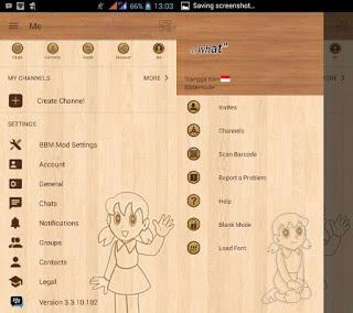 BBM Mod Shizuka Wood Apk