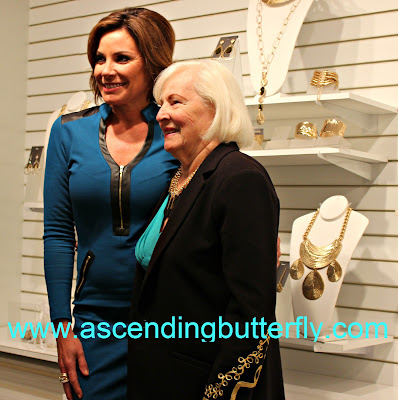 Countess LuAnn de Lessepts and her mother at the Press Preview of Countess LuAnn de Lesseps Countess Jewelry Collection in New York City
