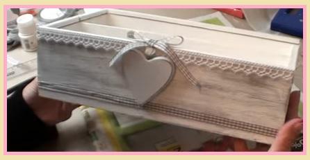 Arredamento i love shabby chic scatola shabby chic fai da for Foderare una scatola