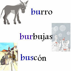 Se o laura palabras con bu bur y bus for La b b