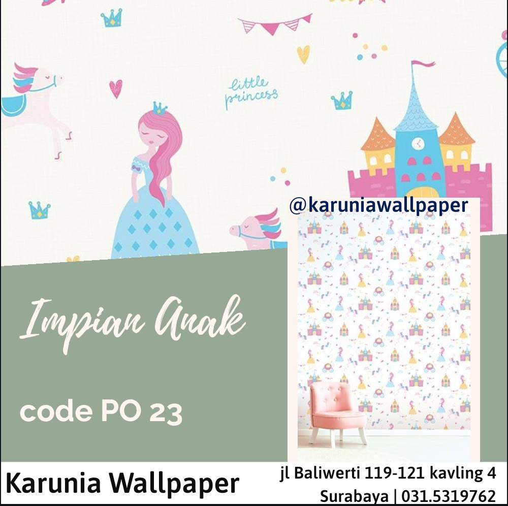 jual dinding wallpaper princess