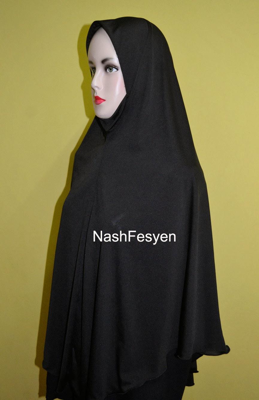 Nash Fesyen Tudung Labuh Untuk Pelajar Tahfiz