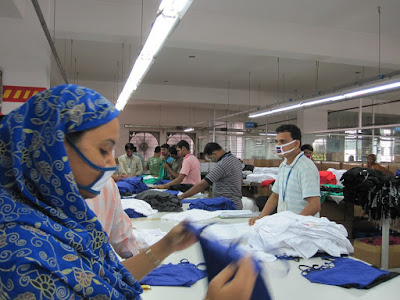 Garment finishing section