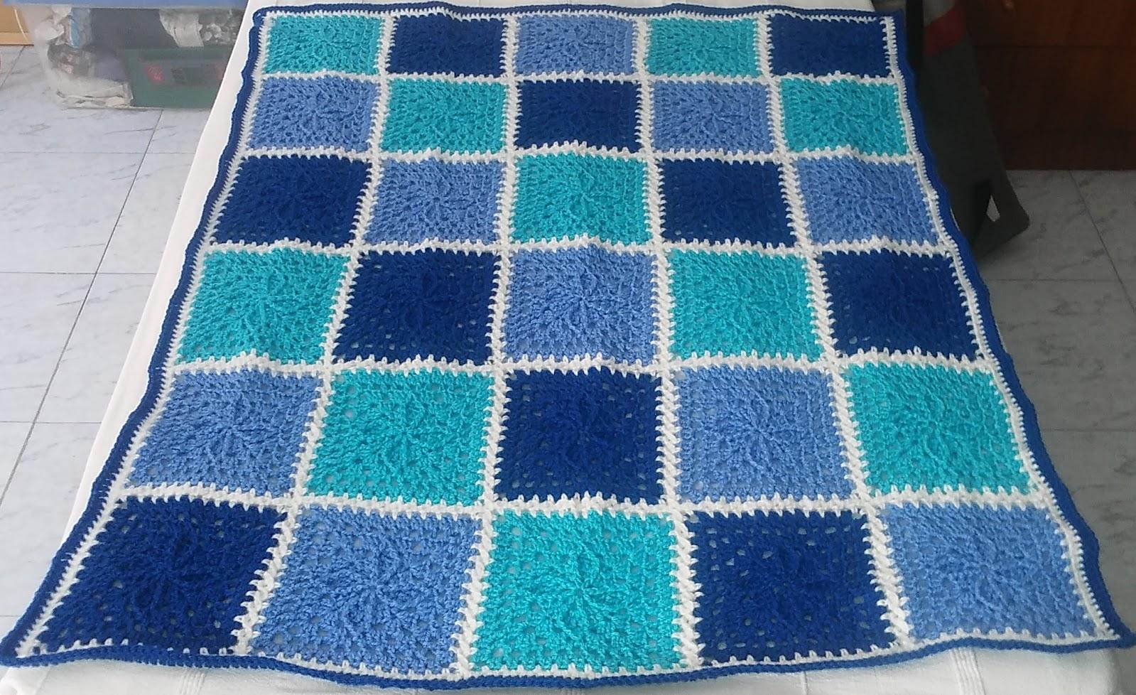 Crochet & Knitting: Blanket, Squares.