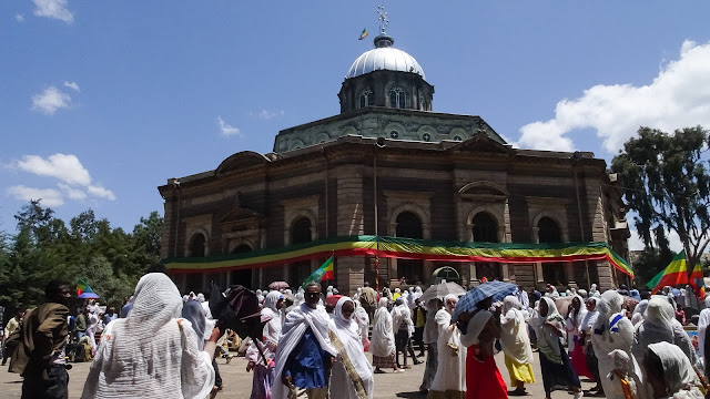 Cathedral during Eastern in Ethiopia