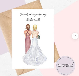 bridesmaid Proposal Cards Custom