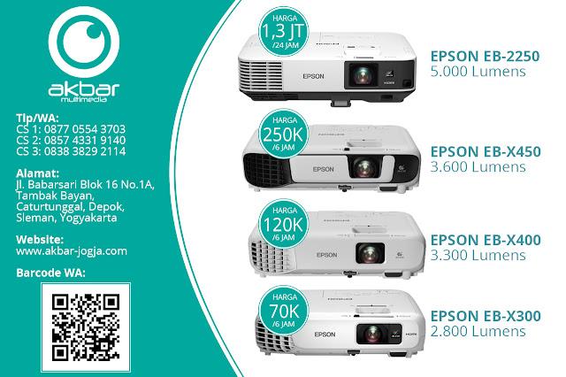 Daftar harga sewa proyektor lengkap dan murah di Akbar Multimedia Jogja