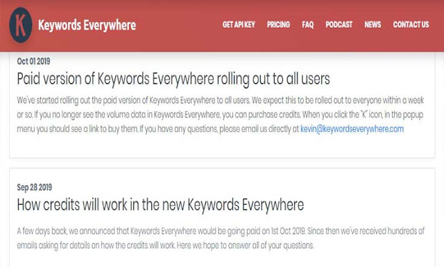 Keywords Everywhere Mulai Berbayar Pada 1 Oktober 2019