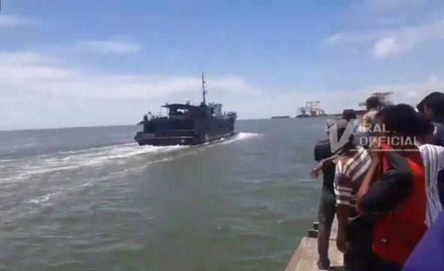 Warga Beramai-ramai Halau Kapal Ikan China yang Mau Mendarat di Langkat