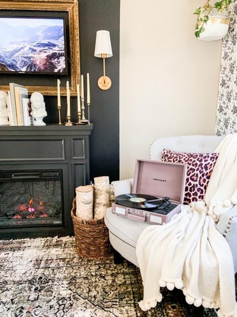 birchwood by fireplace