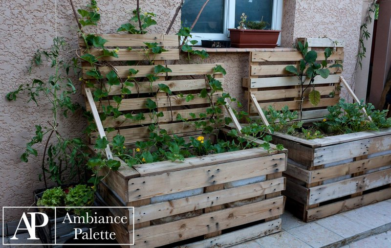 Jardineras - Jardineras con palets de madera ...