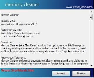 Hướng Dẫn Sử Dụng Memory Cleaner Để Giải Phóng Ram Máy Tính