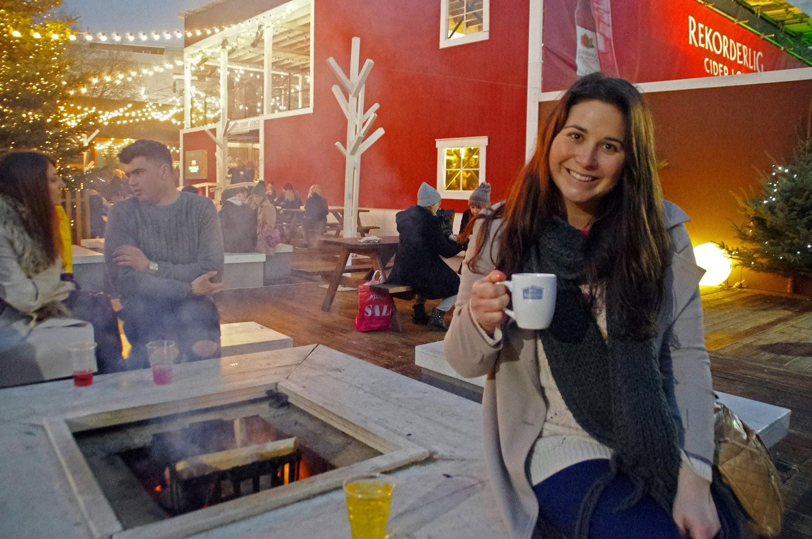 Girl at Southbank Cider Lounge Pop Up