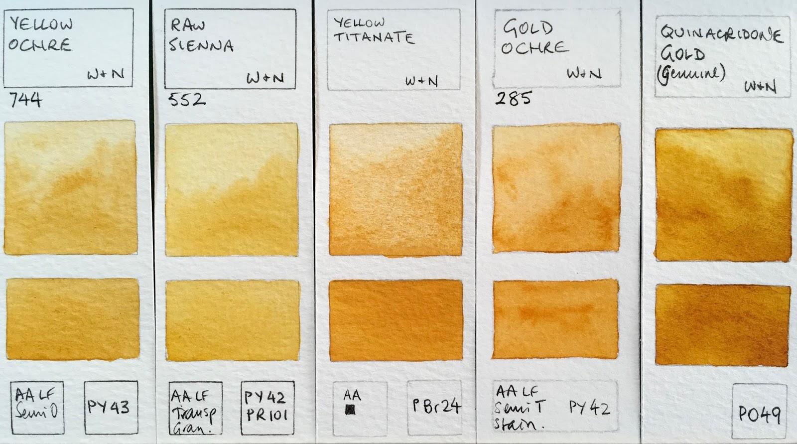 Winsor  newton watercolours yellow ochre raw sienna titanate gold quinacridone genuine discontinued also jane blundell artist full range rh janeblundellartspot