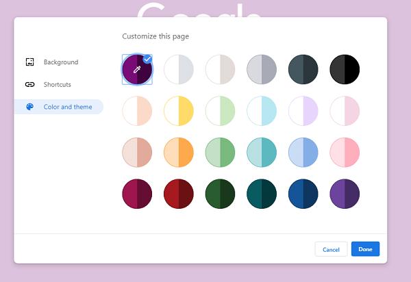 Ubah Warna dan Tema di Chrome
