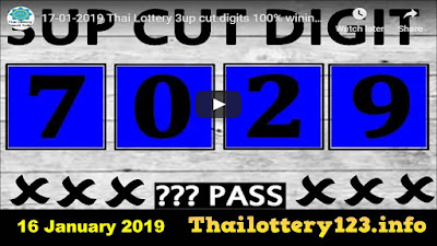 Thai lottery exclusive 3up cut digits pairs sure tip 16 January 2019
