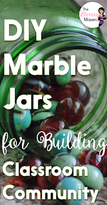 Build positive classroom community. All you'll need for these DIY Marble Jars is some empty containers, pom-pom balls, a ruler, and a permanent marker. They are inexpensive and easy to make, especially if you have multiple classes.