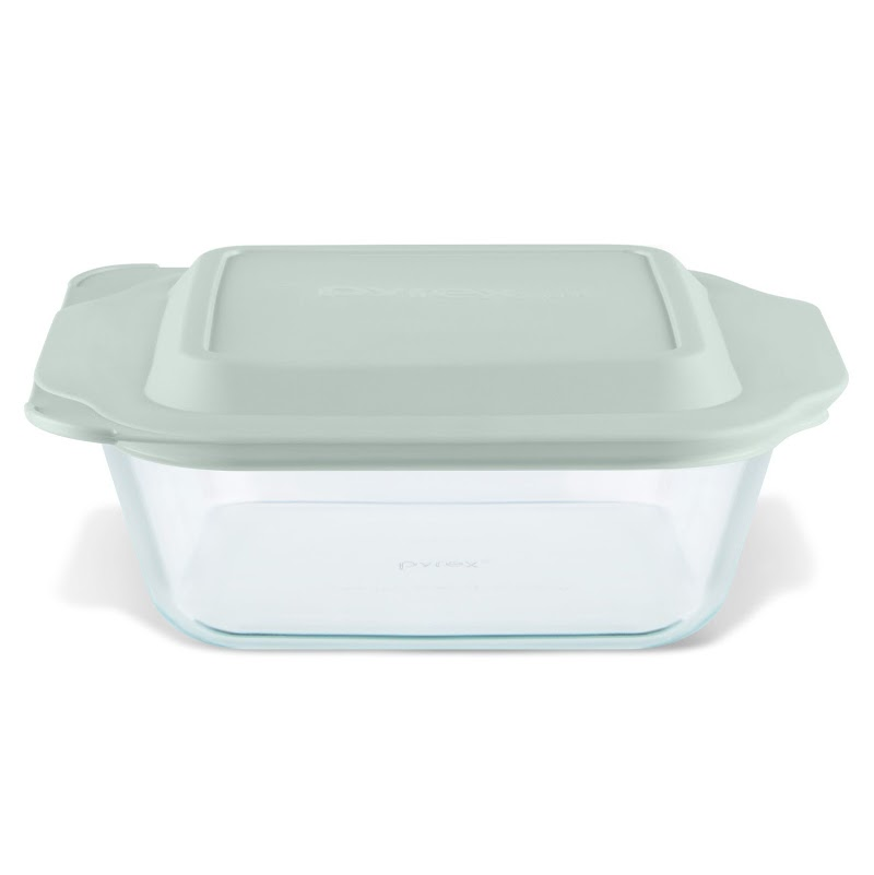 "WALMART - Pyrex Deep Dish 8""x 8"" Glass Bake Set with Sage Lid"