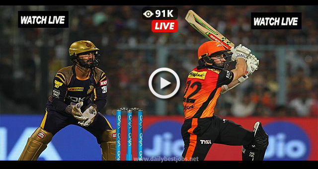 IPL 2018 LIVE Cricket Score SRH vs KKR Live Streaming Online