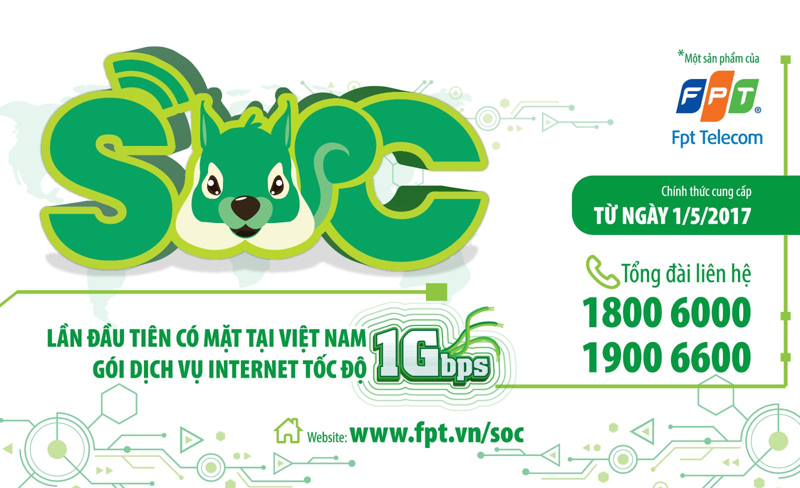 FPT Telecom ra mắt gói dịch vụ Internet tốc độ cao 1Gbps lần đầu tiên tại Việt Nam