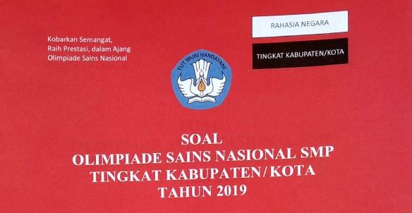 Soal OSK IPA SMP 2019