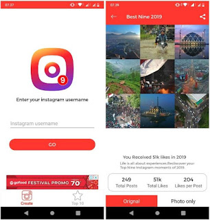 5 Cara Membuat Best Nine Instagram 2019