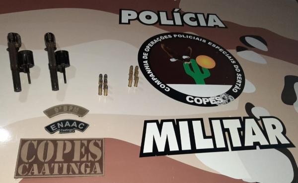 Homem é preso em Inhapi por porte ilegal de arma de fogo e munições