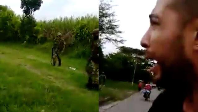 """¡Me mataron a Juliana!"";  Hombre transmite en vivo asesinato de su esposa por el Ejército"