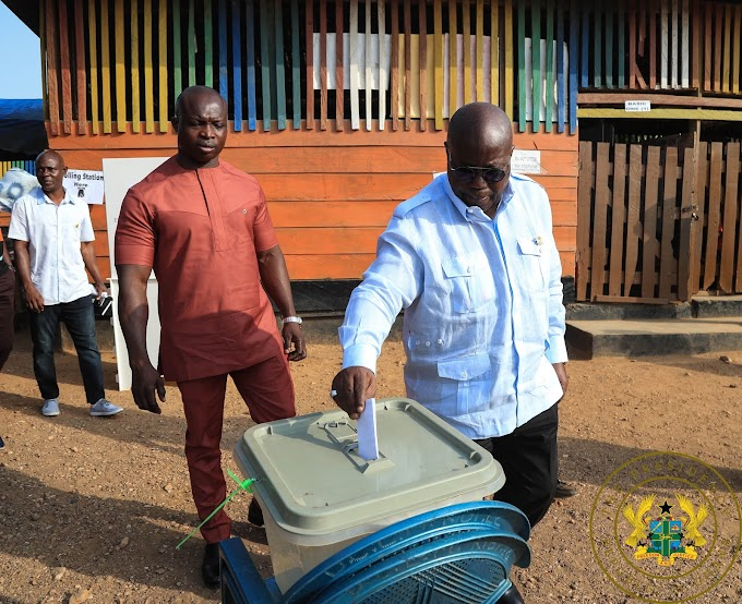 President Akufo-Addo Votes In District Assembly Elections