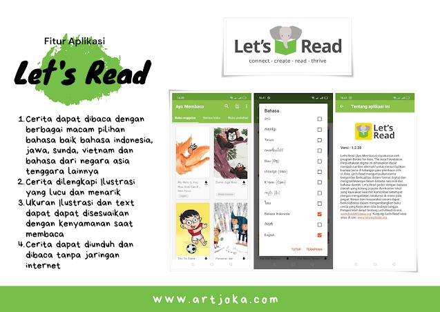 fitur aplikasi let's read