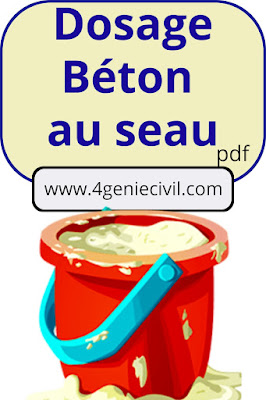 Dosage beton au seau