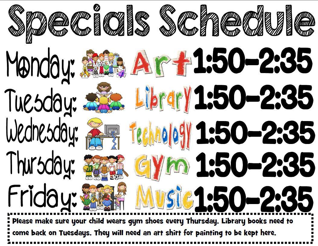 Peace Love First Grade Schedule