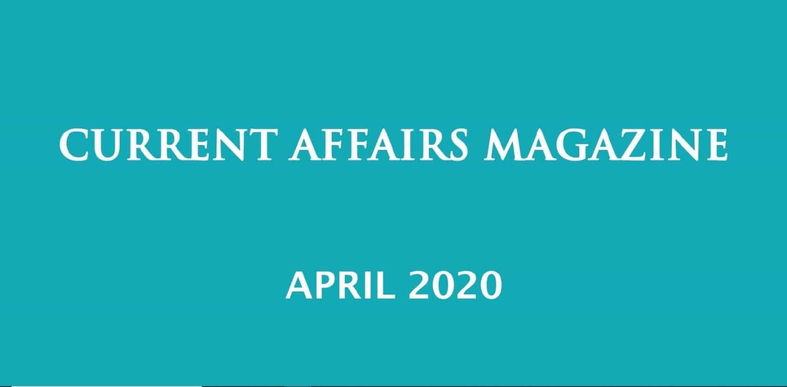 Current Affairs April 2020 iasparliament