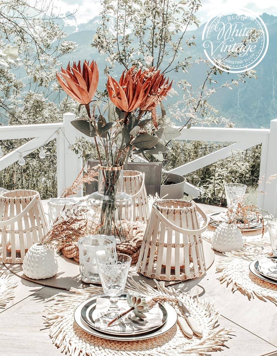 Tischdeko im angesagten Boho-Stil