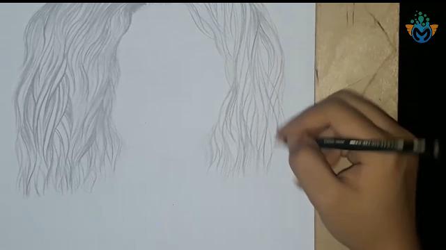 تعليم اسهل طرق لرسم جميع انواع الشعر للمبتدئين