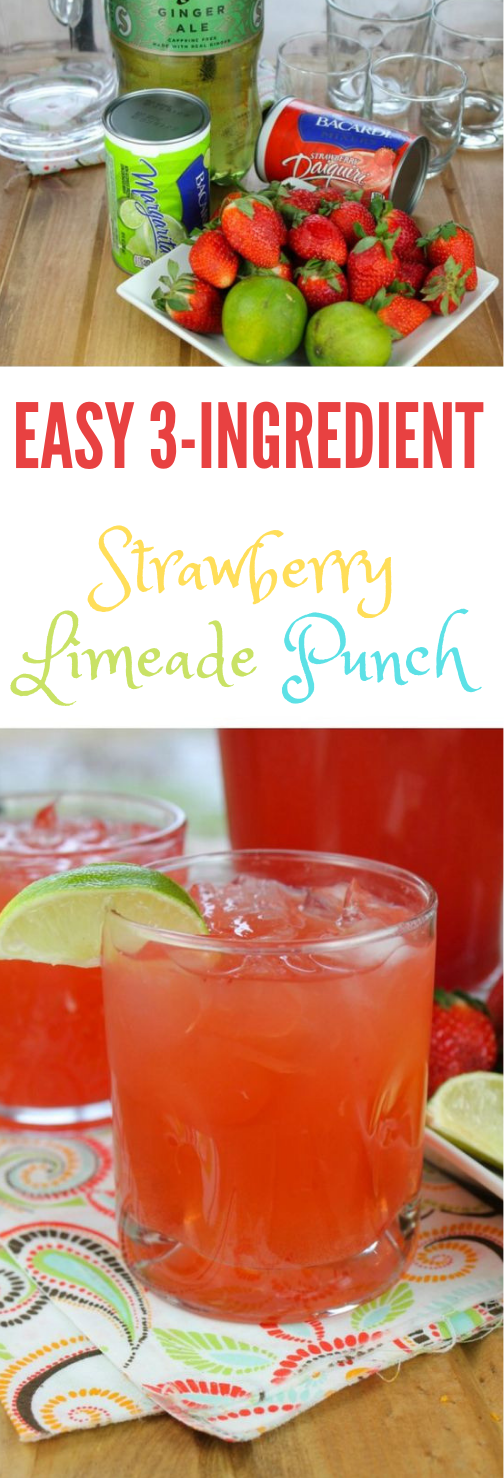 EASY STRAWBERRY LIMEADE PUNCH #drink #punch