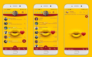 Lips Heart 2 Theme For YOWhatsApp & Fouad WhatsApp By Leidiane