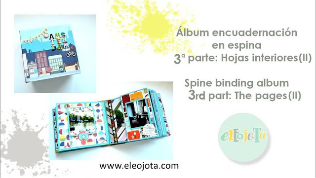 tutorial album espina scrapbooking